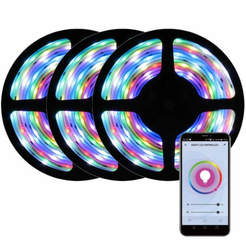 WBM International WiFi RGB LED Light Strip Kit Perspective: front