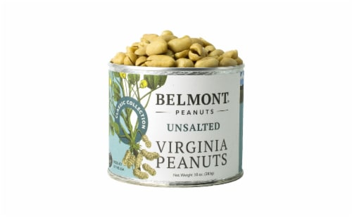 Belmont Peanuts Unsalted Virginia Peanuts, 10 oz Perspective: front