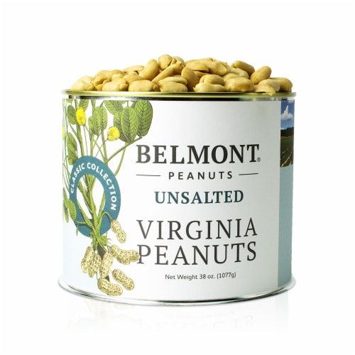 Belmont Peanuts Unsalted Virginia Peanuts, 38Oz Perspective: front