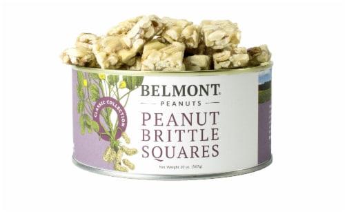 Belmont Peanuts Peanut Brittle Squares Virginia Peanuts, 18Oz Perspective: front