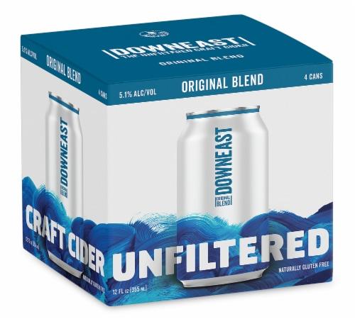 Downeast Original Blend Unfiltered Cider Perspective: front