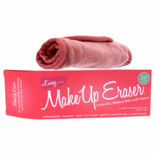 MakeUp Eraser Makeup Remover Cloth - Living Coral 1 Pc Perspective: front