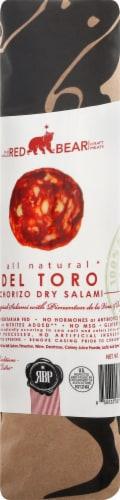 Red Bear Provisions All Natural Del Toro Chorizo Dry Salami Chub Perspective: front