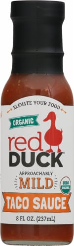Red Duck Organic Approachably Mild Taco Sauce Perspective: front