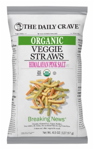 The Daily Crave Organic Himalayan Pink Salt Veggie Sticks Perspective: front