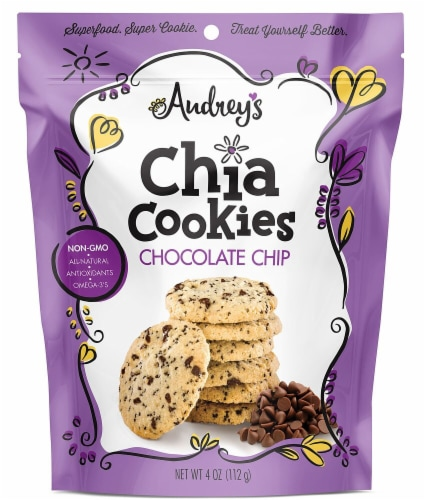 Audrey's Chocolate Chip Chia Cookies Perspective: front