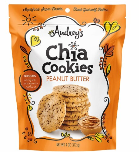 Audrey's Peanut Butter Chia Cookies Perspective: front