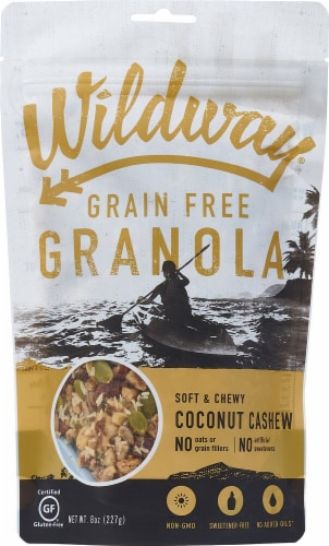 Wildway Gluten Free Coconut Cashew Granola Perspective: front