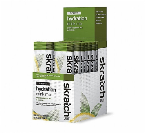 Skratch Labs  Sport Hydration Drink Mix with    Matcha Green Tea & Lemon Perspective: front