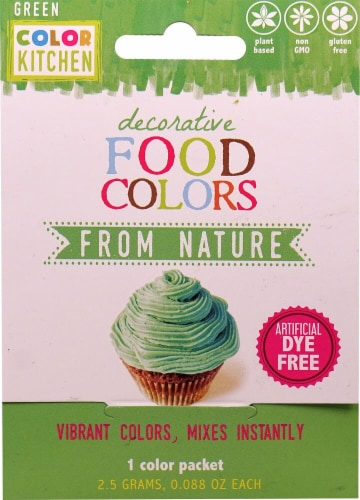 Color Kitchen  Decorative Food Colors From Nature Green Perspective: front