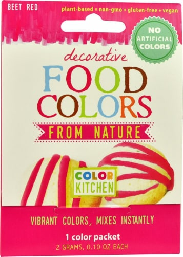 Color Kitchen  Decorative Food Colors From Nature Pink Perspective: front
