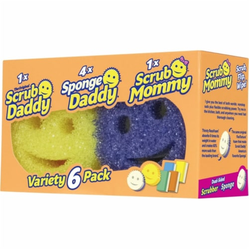 Scrub Daddy 1005770 Heavy Duty Scrubber Sponge for All Purpose - Pack of 6 Perspective: front
