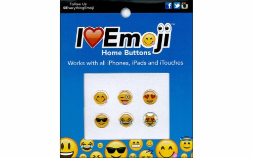 Petersen Arne I Love Emoji Home Buttons - 6 Piece Perspective: front