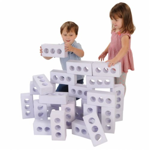 Kaplan Early Learning Foam Ice Brick Builders - Set of 25 Perspective: front