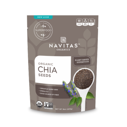Navitas Organics Chia Seeds Perspective: front