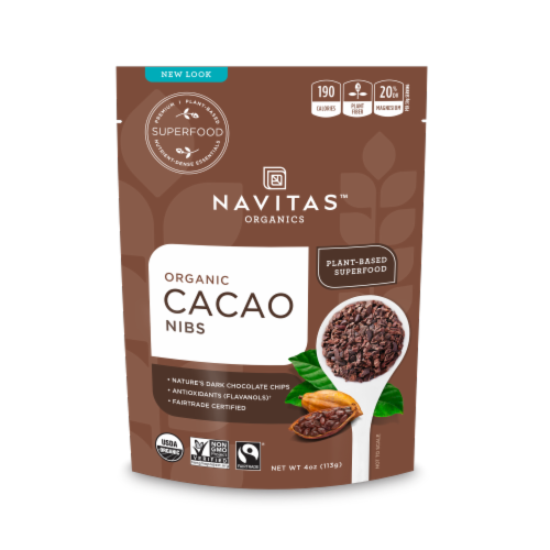 Navitas Naturals Cacao Nibs Perspective: front