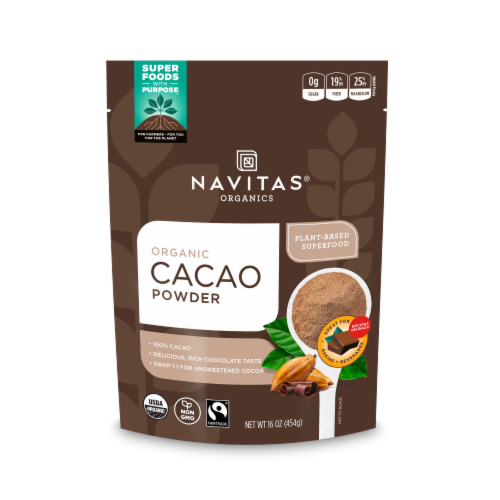 Navitas Naturals Organic Chocolate Cacao Powder Perspective: front