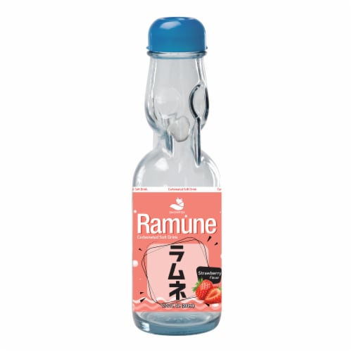 Ramune Strawberry Drink Soda Perspective: front