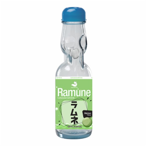 Ramune Melon Drink Soda Perspective: front