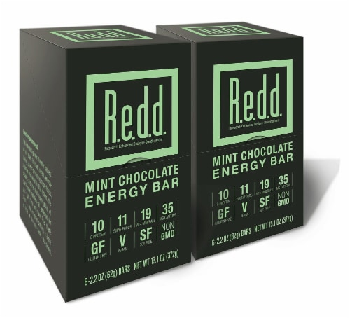 R.e.d.d. Mint Chocolate Superfood Energy Bars Perspective: front