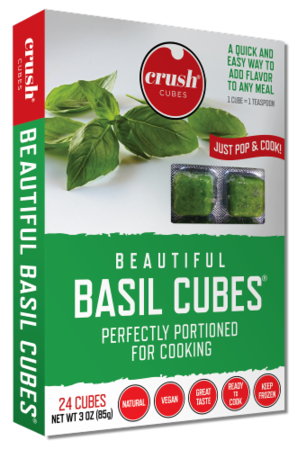 Crush Beautiful Basil Frozen Cubes Perspective: front