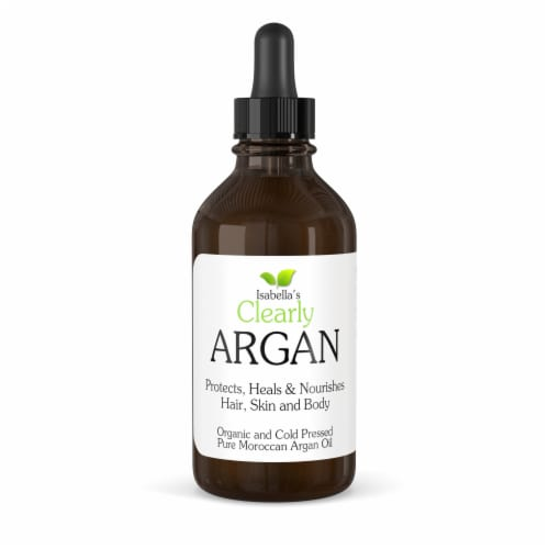 Clearly ARGAN, 100% Organic Cold Pressed Moroccon Argan Oil Perspective: front