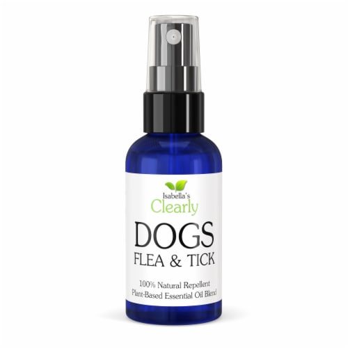 Clearly DOGS, Flea and Tick Repellent for Dogs Perspective: front