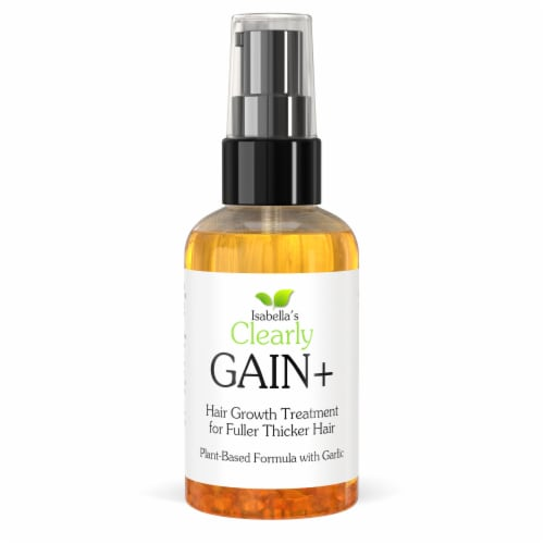 Clearly GAIN+. Hair Growth Oil and Hair Loss Treatment with Garlic Perspective: front