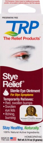 TRP Stye Relief Sterile Eye Ointment Perspective: front