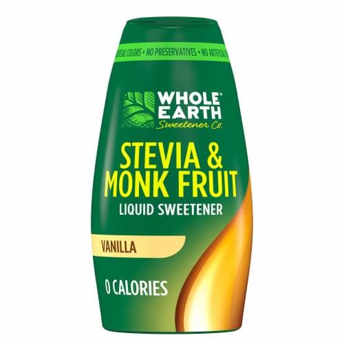 Whole Earth Sweetener Co Vanilla Stevia & Monk Fruit Liquid Sweetener Perspective: front
