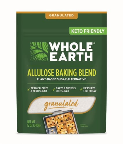 Whole Earth Granulated White Allulose Baking Blend Sugar Alternative Perspective: front