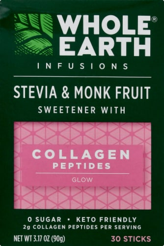 Whole Earth Infusions Stevia & Monk Fruit Sweetener Sticks Perspective: front