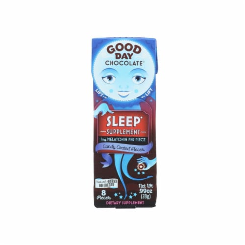 Good Day Chocolate Sleep Supplement Candy Coated Pieces 8 Count Perspective: front