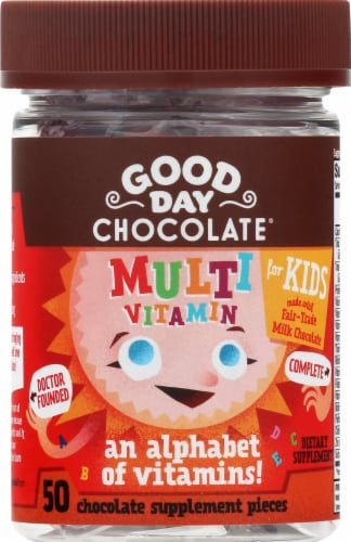 Good Day Chocolate Kids Multi Vitamin Supplement Perspective: front