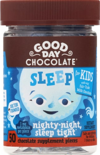 Good Day Chocolate Kids Sleep Supplement Perspective: front