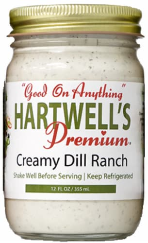 Hartwell's Premium Creamy Dill Ranch Dressing Perspective: front