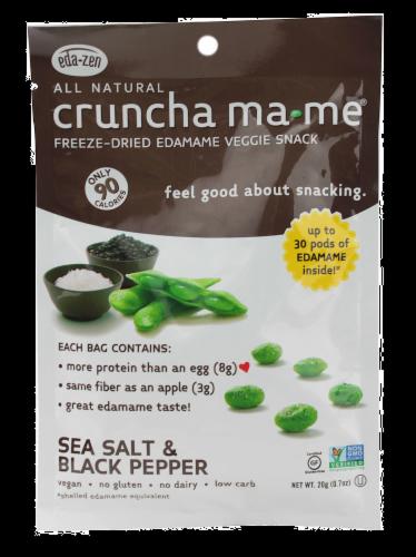 Eda-zen cruncha ma-me Freeze Dried Edamame Perspective: front