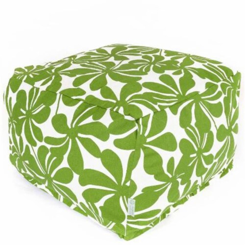 Majestic Home Sage Plantation Large Ottoman Perspective: front