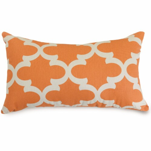 Outdoor Peach Trellis Small Pillow 12x20 Perspective: front