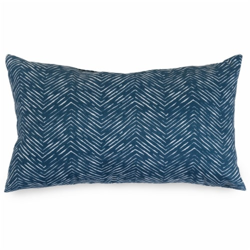 Outdoor Navy Navajo Small Pillow 12x20 Perspective: front