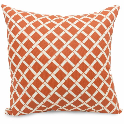 Outdoor Burnt Orange Bamboo Large Pillow 20x20 Perspective: front
