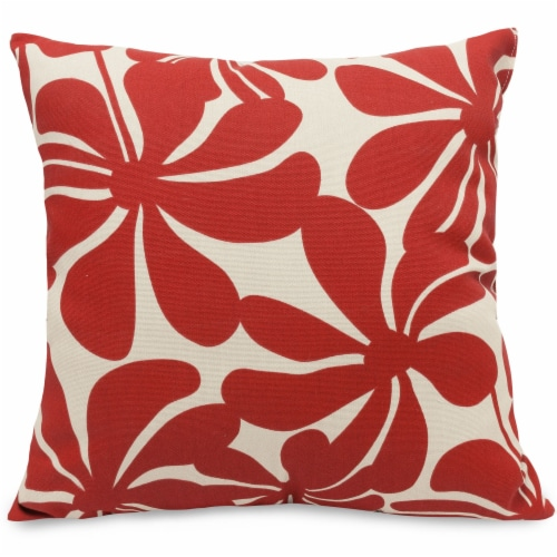 Outdoor Red Plantation Large Pillow 20x20 Perspective: front