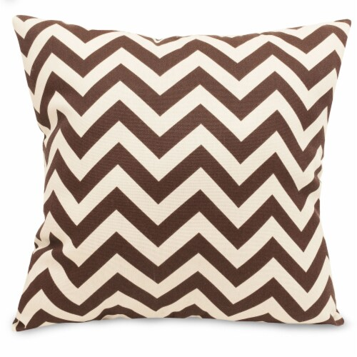 Outdoor Chocolate Chevron Large Pillow 20x20 Perspective: front