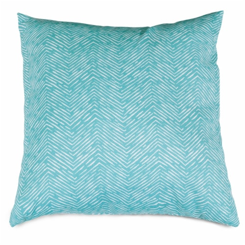 Outdoor Teal Navajo Large Pillow 20x20 Perspective: front