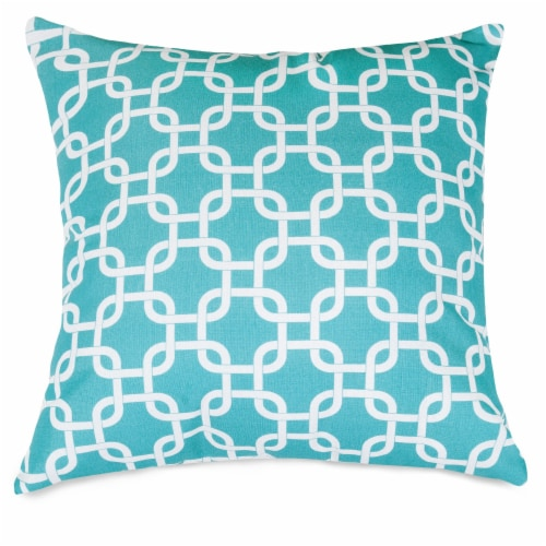 Outdoor Teal Links Extra Large Pillow 24x24 Perspective: front