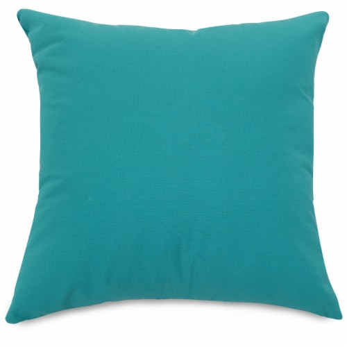 Outdoor Teal Extra Large Pillow 24x24 Perspective: front