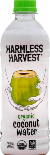 Harmless Harvest 100% Raw Coconut Water Perspective: front