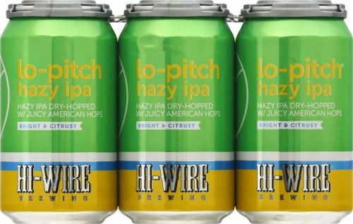 Hi-Wire Brewing Lo-Pitch Hazy IPA Perspective: front