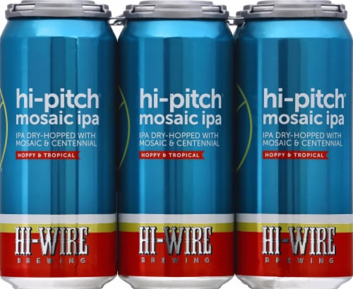 Hi-Wire Brewing Hi-Pitch Mosaic IPA Perspective: front