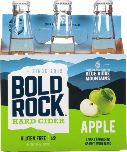 Bold Rock® Virginia Granny Smith Apple Hard Cider Perspective: front